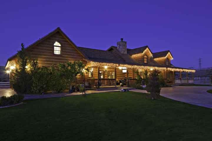 A well-lit ranch home